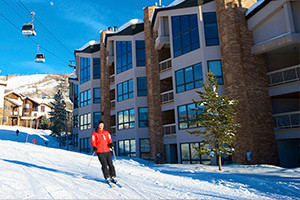 Chateau Chamonix - Slopeside Conods :: Luxury 2,3 & 4 bdrm condos at a true ski-in, ski-out location at Steamboat Resort. Amenities include outdoor heated pool, hot tubs, fitness room, on-site check-in, & shuttle.