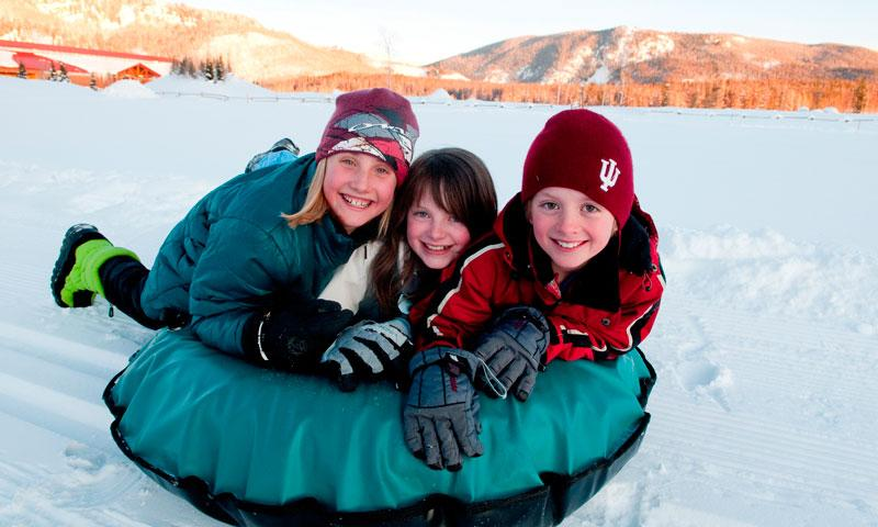 Snow Tubing at Vista Verde Ranch in Steamboat Springs