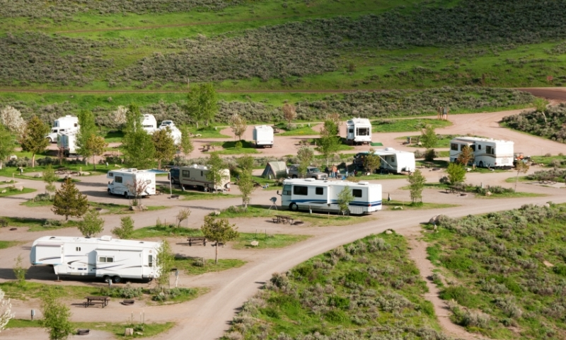 Stagecoach State Park Campground in Steamboat Springs Colorado