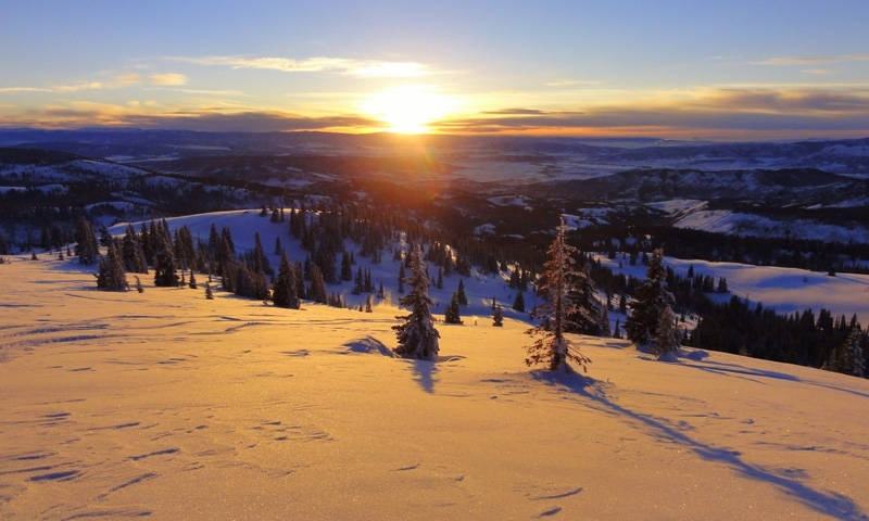 Sunset over Buffalo Pass in the Winter