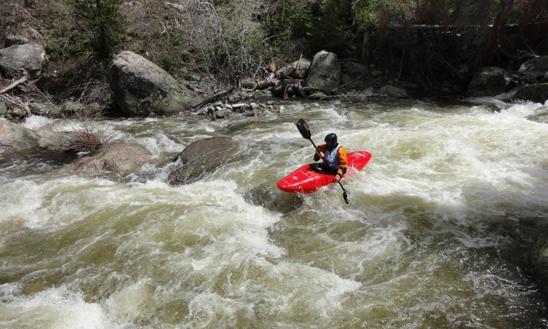 Whitewater Kayaking on Fish Creek in Steamboat Springs