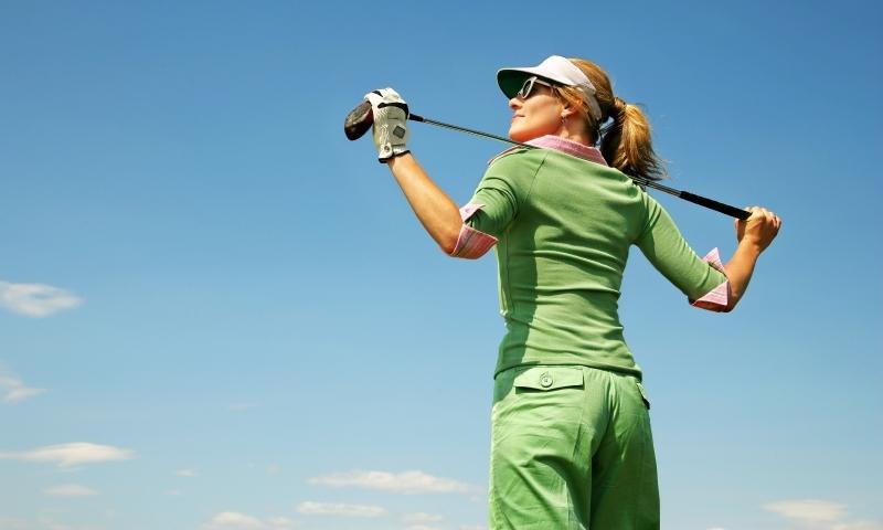 Woman Golfing Golfer