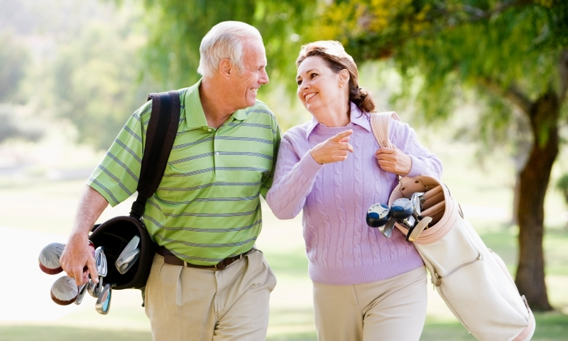 Golf Golfing Couple