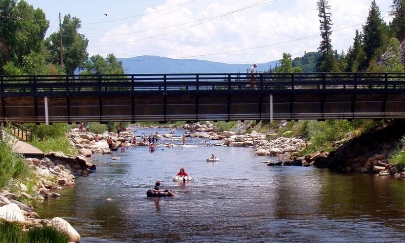 Tubing the Yampa River