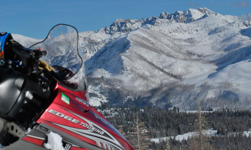 Snowmobiling in Steamboat Colorado