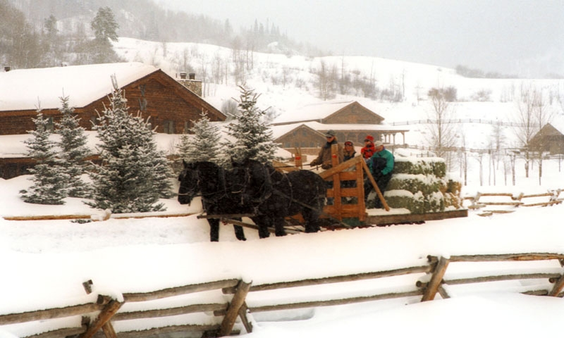 Sleigh Ride at Vista Verde Ranch in Steamboat Springs